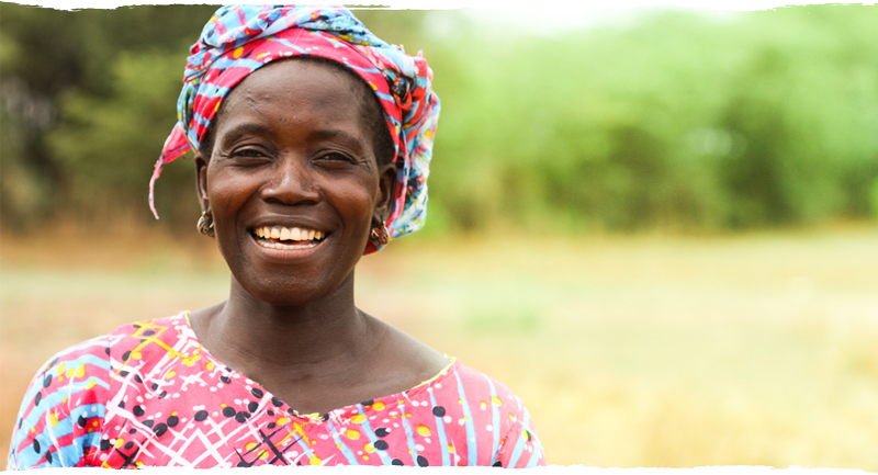 Femme africain souriante